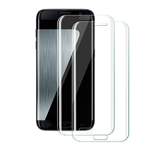 Galaxy S7 Edge Panzerglas Schutzfolie[2 Stück], Etmury Panzerglasfolie Galaxy S7 Edge Schutzfolie Hartglas [Blasenfreie] [Anti-Kratz] Gehärtetem Glas Displayschutzfolie Für Samsung Galaxy S7 Edge (1)