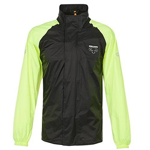 Bullson Basic II Regenjacke schwarz-gelb L - Motorrad Regenbekleidung