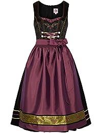 Spieth   Wensky Damen Dirndl midi schwarz pink Oliv, SCHWARZ PINK Oliv, d851ddc8b6