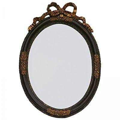 Wandspiegel Barock ovale Form Vintage Badspiegel dunkelbraun gold Antik verziert von Decobayeu auf Spiegel Online Shop