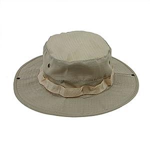 FakeFace Boonie Hat Chapeau Brousse Camouflage à Large Bord Cap Unisexe Casquette Anti-Solaire pour Camping Militaire Wargame Voyage Sport