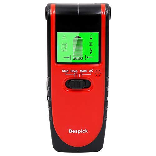 Stud Finder Stud Detektor Bespick Wand Stud Sensor, 4-in-1 Metall AC Draht Stud Wand Detektor, Kabel Detektor Wand Draht Detektor Holz Finder, Multi-Scanner für Wand & Decke mit LCD & Beep Alarm