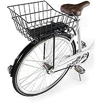 Ducomi cesta bicicleta trasera universal para adultos, niña y niño – 41 x 26 x 20 cm – Cesta Almacenaje y para perro de Red de metal plastificada ...