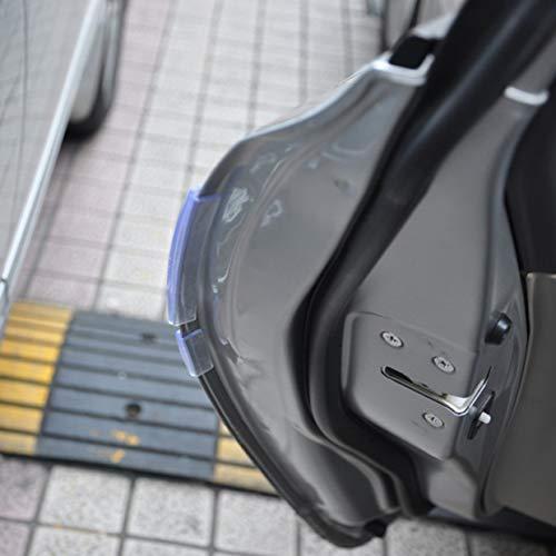 MXECO 8pcs del coche SUV puerta lateral protector de borde de banda de protección Raspe la Guardia paragolpes asa de la cubierta Negro Blanco Transparente