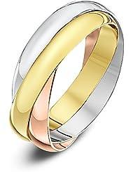 Bague - Anillo de mujer de oro tricolor (9k)