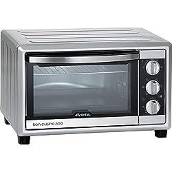 Ariete 985 Bon Cuisine 300 - Forno elettrico ventilato, Dimensioni interne: 355x305x275 mm, 30 Litri, 1500W, 6 posizioni cottura, Timer 60', Silver