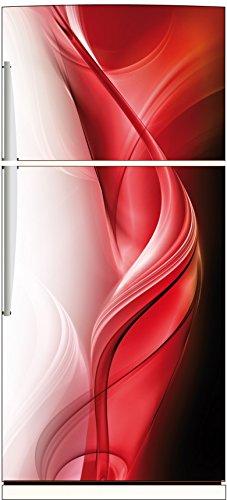 Stickersnews - Magnet frigo Design rouge réf 517 Dimensions - 60x180cm