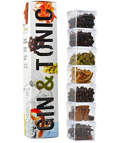 7 botaniques de Gin Tonic - Arôme pack, grande variété pour Cocktails Gin & Tonic