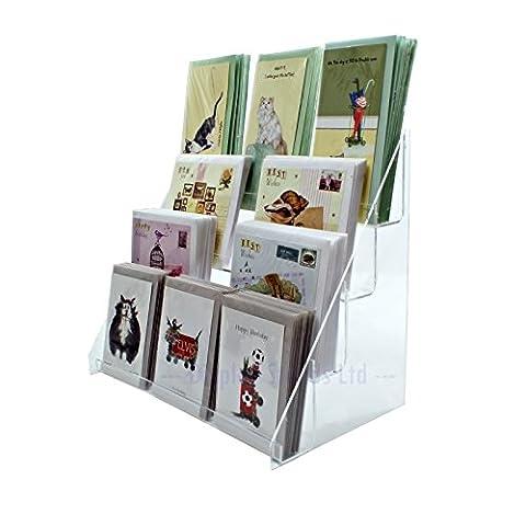 Acrylique Transparent à 4étages support de carte de vœux pour vente au détail les comptoirs de l'affichage (Ds42/400)