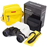 Timy Binoculars for Kids 10x22 High Resolution Kids Telescopes for Bird Watching -Birthday Gifts Set for Boys Girls Premium Play Outdoor Camping Toy with Cute Crossbody Bag