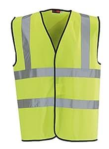 Blackrock Men's High Visibility Waistcoat Yellow EN471 Class 2, XX-Large