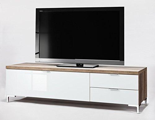 CS Schmalmöbel 45.150.505/014 TV-Board Cleo Typ 12, 163 x 50 x 44 cm, wildeiche / weißglas - 2