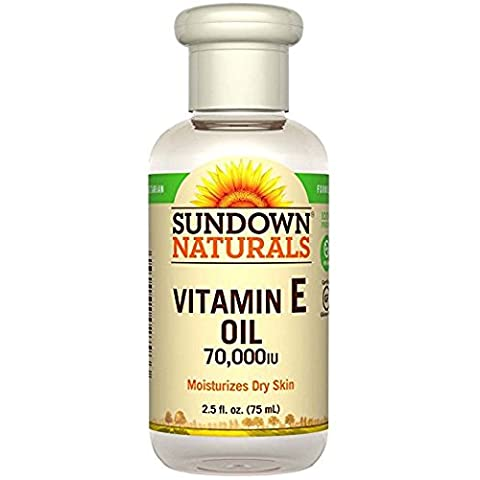 Sundown Naturals Pure Vitamin E - Oil 70,000 Iu, 2.5 Oz ( Pack of 4 )