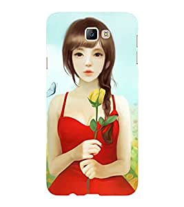 Bluethroat a girl with western dress Back Case Cover for Samsung Galaxy On5 (2016)