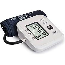 Henweit Monitor de presión arterial brazo superior con lectura de voz, modo de 2 usuarios