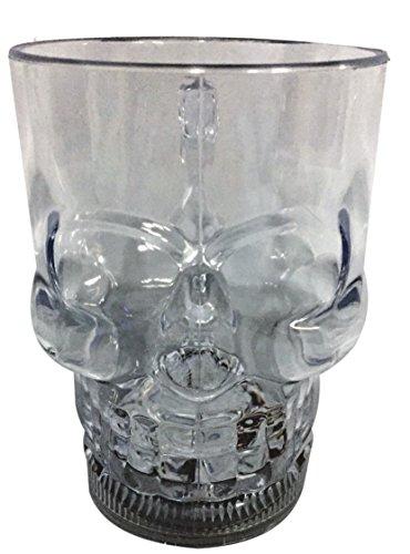 Skull Mug Kunststoff Totenkopf Getränk Aktiviert Mehrfarbig LED Tasse (Eine Starbucks Kostüm)