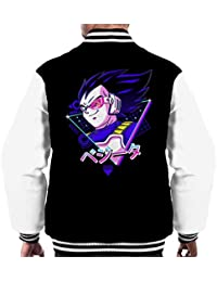 Dragon Ball Z Retro 80s Vegeta Saiyan Prince Mens Varsity Jacket