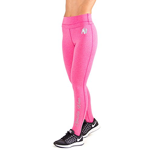 Gorilla Wear Womens Annapolis Work Out Legging - pink - Bodybuilding und Fitness Leggings für Damen, L