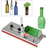 OFNMY Glass Bottle Cutter, Stainless Steel Adjustable Square & Round Bottle Cutting Machine