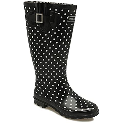SoulCal Mujer Festival Wellies Estampado Fashion Wellingtons Casual Zapatos