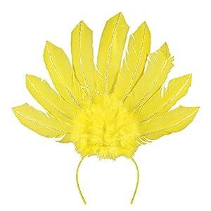 Boland 52103 Samba - Diadema de neón, Color Amarillo