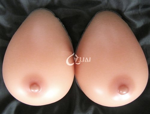Forever-Young-Silicone-Breast-Form-Full-Boob-TV-SunTan-Colour-Cup-F