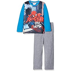 DHQ2156 Pijama de una Pieza, Azul (Blue), 6 años (Tamaño del Fabricante:6Y) para Niños