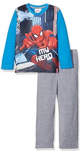 Marvel Jungen Pyjama-Sets Spiderman Fighter, Blau, 3-4 Jahre