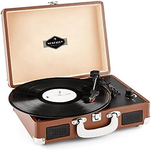 Auna Peggy Sue tocadiscos retro (USB, altavoces estéreo integrados, salida RCA, digitalizador LP) -