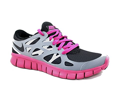Nike Laufschuhe Free Run+ 2 EXT Damen black-black-cool grey-fuchsia, 35,5, schwarz