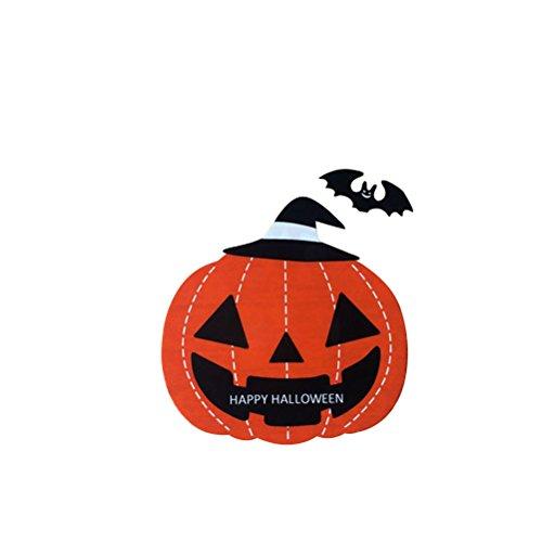 ellophan Taschen Kürbis Taschen Halloween Süßigkeiten Biskuit Taschen Selbstklebende Cookie Cellophan Taschen für Lebensmittel-Paket (Cookie-bevorzugung Taschen)
