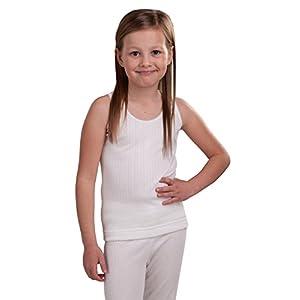 Octave – Mädchen Thermo-Unterhemd – extra warm – Made in GB – weiß – 6-8 Jahre [Brust: 60,9-66 cm]