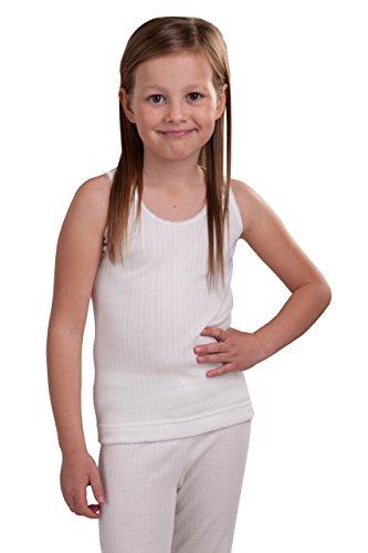 Octave – Mädchen Thermo-Unterhemd – extra warm – Made in GB – weiß – 6-8 Jahre [Brust: 60,9-66 cm] | 09480000003538