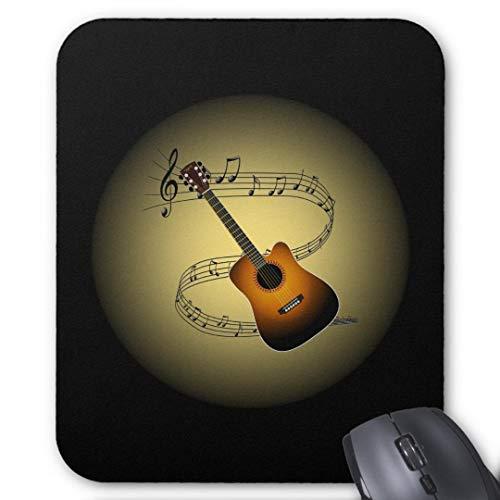 GBZ Mauspad für Computer, Laptop, Akustik, Gitarre, Musikschule, Musik, Globus, rutschfest
