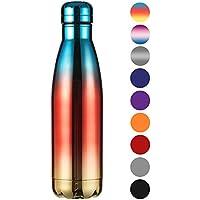 Ecooe Thermosflasche 500ml doppelwandig Trinkflasche edelstahl Wasserflasche Vakuum Isolierflasche