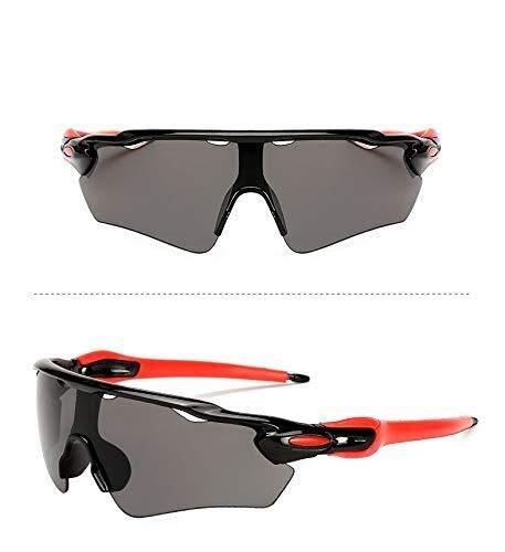 Lxc Home Schöne Outdoor-Sportarten Männer Und Frauen Sport Strand Berg Sonnenbrille Fahrrad Sonnenbrille Outdoor-Reitbrille Zeige Temperament (Farbe : Black)
