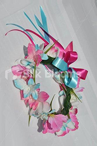 Aqua-Tropical-y-Frangipani-flor-Artificial-pksp-orquedeas-Dendrobium-e-hibiscos-Halo