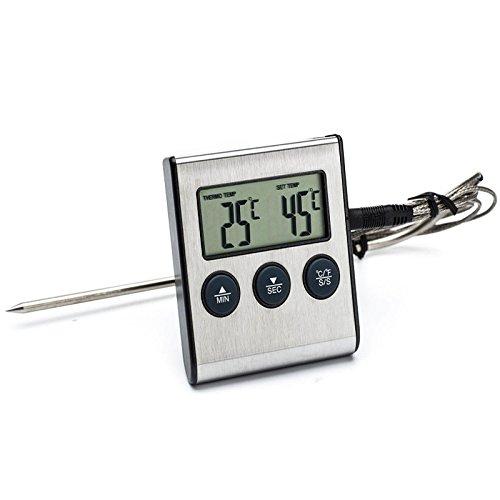 Wuchance Temporizador eléctrico del termómetro de la Barbacoa del BBQ de la...