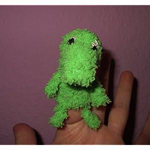 Fingerpuppe Krokodil handgemacht