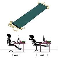 Piedi Amaca, SUNNIOR portatile regolabile Mini resto del piede supporto sotto Desk facile da smontare per casa e ufficio (Verde scuro)