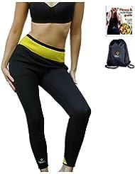 VEOFIT Pantalone per Sudorazione: Legging dimagrante - Tonifica e aiuta ad eliminare l'acqua in eccesso per la pelle più soda e una silhouette raffinata
