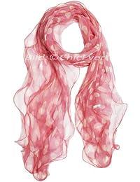 Chiffon Schal 100/%Seide Seidenschal 50x170cm Blumen dunkelrosa rosa schwarz 3150