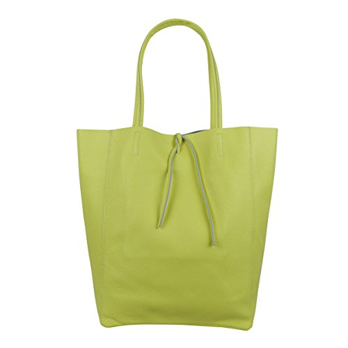 FreyFashion - Made in Italy, Borsa tote donna Gelb