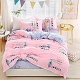 WHoIppRmOrella Mode einfach Flamingo bettwäsche mako Satin bettwäsche 3 / 4pcs-red-1 Bettbezug 150x200 cm und 1 bettwäsche 200x230 und 2 Kopfkissenbezug 48x74 cm