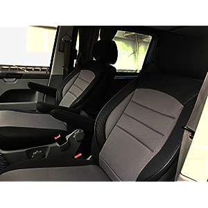POK-TER-TUNING F/ür T6 Multivan Pa/ßgenaue Vordersitzbez/üge Fahrersitz und Beifahrersitz Tuning Schwarz