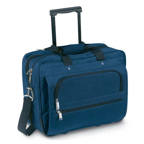 Executive Business-Notebook-Tasche - schwarz Cabin Flight Trolley Rädern Fall (blau)