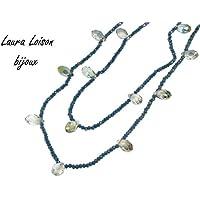 Laura Loison - Collana lunga colore Petrolio
