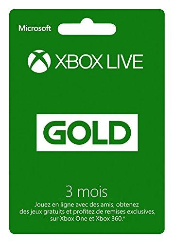 Abonnement Xbox Live Gold 3 mois & Abonnement Xbox Live Gold 3 mois