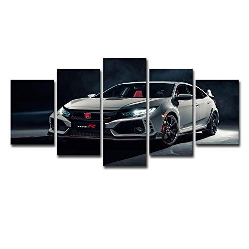 ChuangYing Moderne minimalistische Leinwand Aufkleber Art Coupe HD 5 Block weiße Ben Autoshow Wandmalerei Applique Coupe
