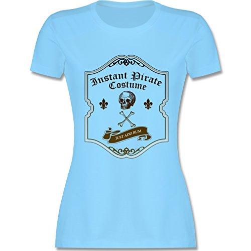 Piraten & Totenkopf - Instant Pirate Costume - Just add Rum - tailliertes Premium T-Shirt mit Rundhalsausschnitt für Damen Hellblau